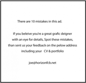 Job Ad: 10 Mistakes