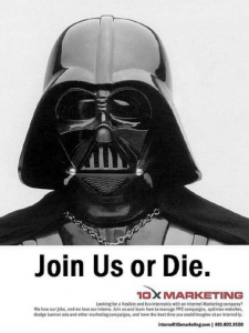 Job Ad: Join us or die
